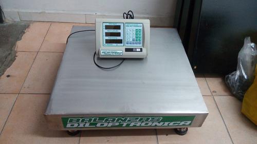 balanza electrónica acero inoxidable 500 kg