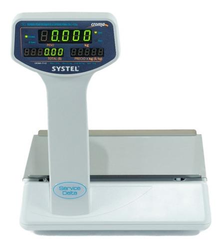 balanza electronica comercial systel croma 15 visores a led digital service delta