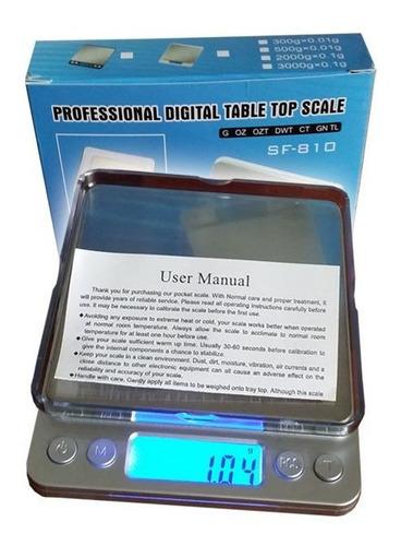 balanza electrónica de sobremesa para joyería y cocina