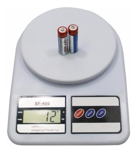 balanza electrónica digital de cocina hasta 10 kilogramos