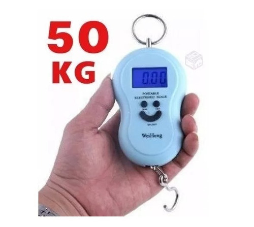 balanza electronica digital portatil de colgar valijas pesca