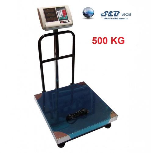 balanza electrónica industrial 500 kg