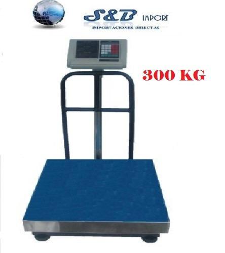 balanza electrónica industrial de 300 kg  / 660 libras