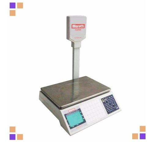 balanza electronica moretti market 30 kg doble visor digital