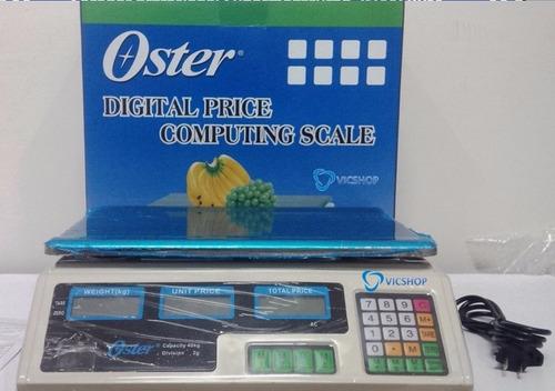 balanza electrónica oster peso digital 40 kg doble pantalla