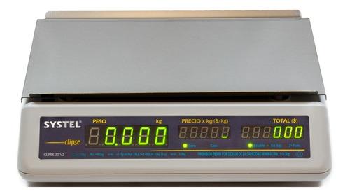 balanza electronica systel clipse 31k bateria contadora full