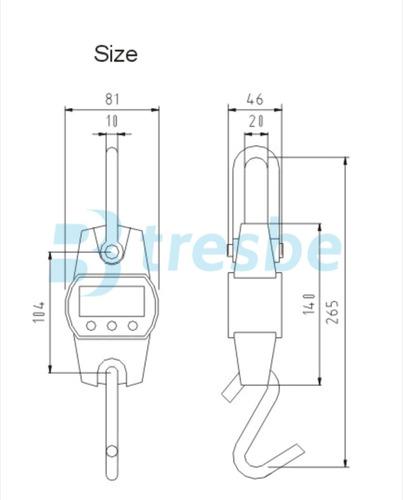 balanza gancho de colgar carniceria 300 kg/100g  electronica