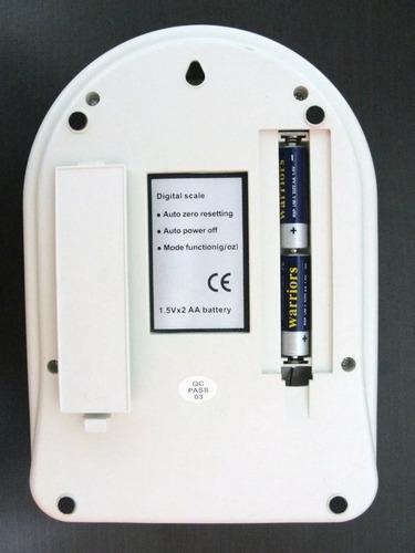 balanza gramera bascula pesa digital capacidad 5000gr 5kg
