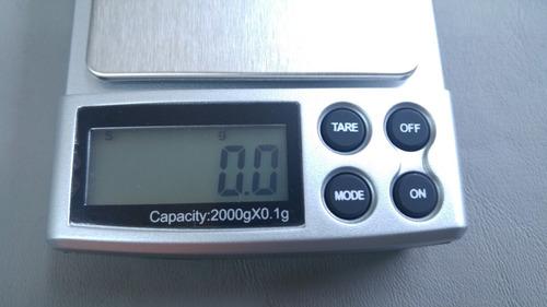 balanza joyería de bolsillo de 0.1 gramos a 2000 gramo