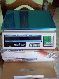 balanza marca ml plus capacidad de 30kg con batería recarga