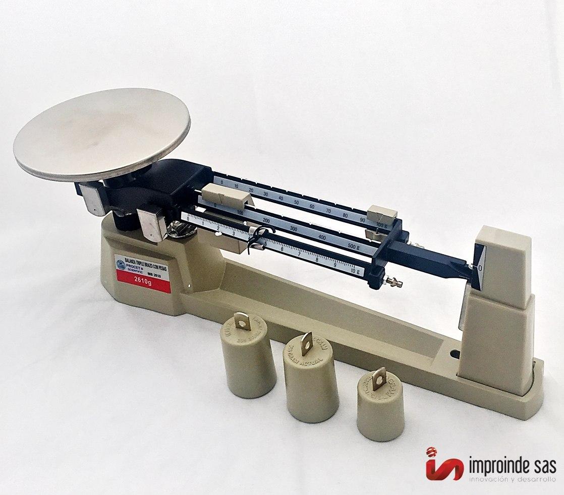 Balanza Mecanica Triple Brazo Con Juego De Pesas Mb-2610
