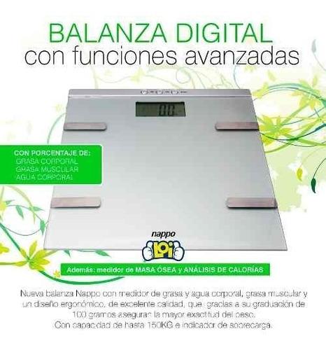 balanza nappo digital % grasa masa corporal calorias en loi