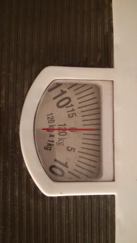 balanza para baño 120 kg gris y blanco - palermo
