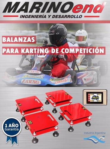 balanza para karting de competición