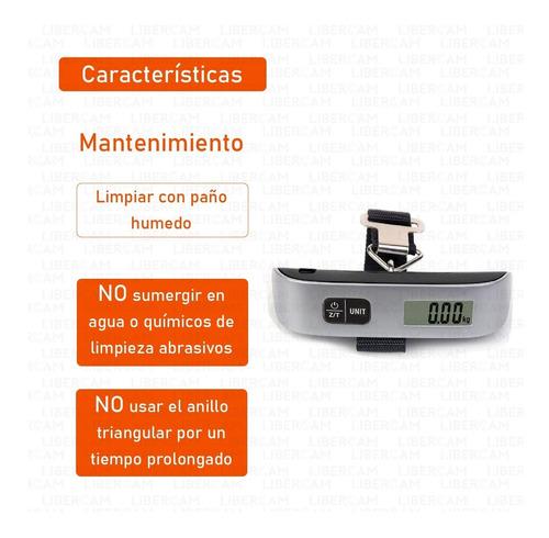 balanza para valijas digital portátil de mano pesa 50kg-10g