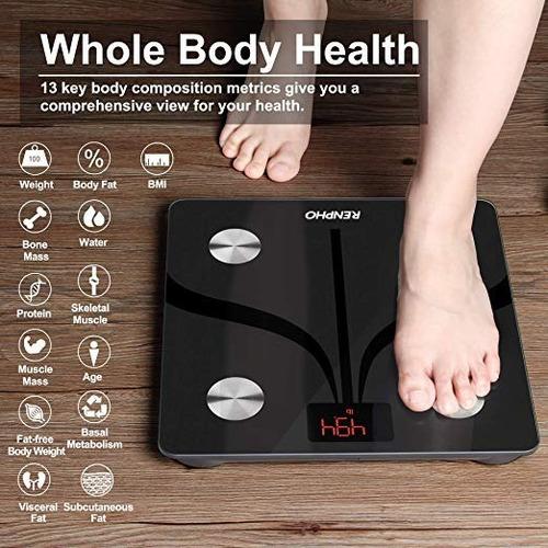 balanza pesa renpho bluetooth smart app %  1 año de grtía mc