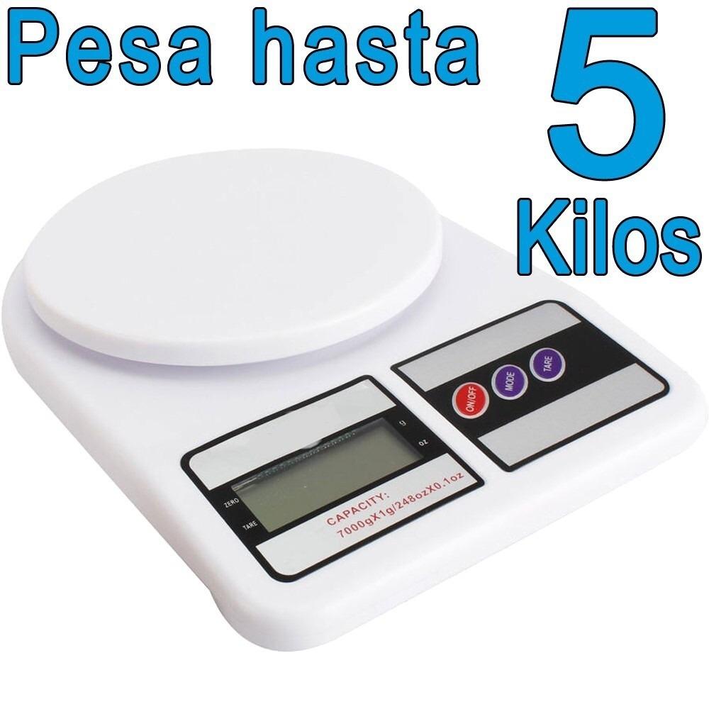 Balanza Peso Digital 5 Y 7 Kg Para Cocina Tienda Física - Bs. 1.950 ...