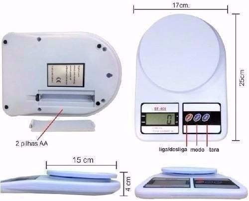 balanza peso digital cocina 7kg x 1gr bateria portatil