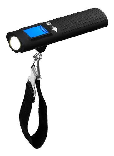balanza portatil 50kg con gancho powerbank 2600mah, linterna