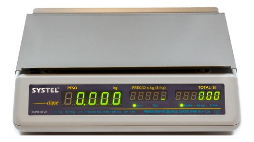 balanza systel clipse 5 kg  impresor quo  etiqueta dietetica