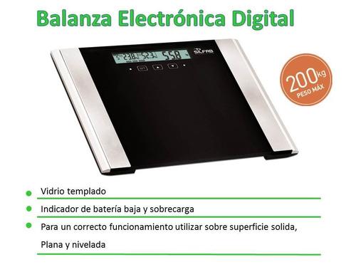 balanza vidrio digital ultraslim mide grasa y masa corporal