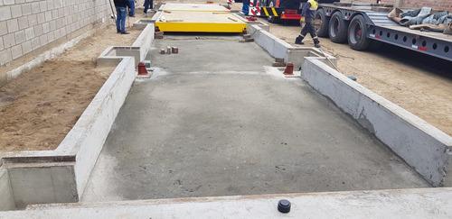 balanzas camioneras camiones 80 tn ras de piso tipo puente