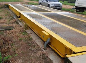 balanzas, o romanas para camiones obra civil construccion