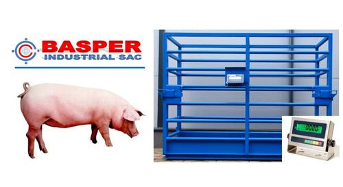 balanzas para ganado básculas ganaderas porcinos cerdos