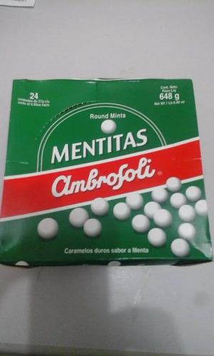 balas ambrosoli mentitas - caixa com 24 sachês 27grs.