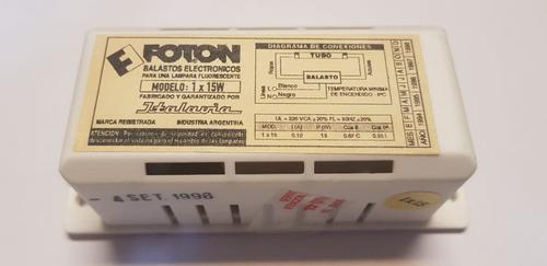balasto electonico italavia 1 x 15 watts