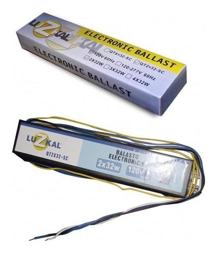 balasto electronico 2x32w luzkal 120 v / 60hz ue30