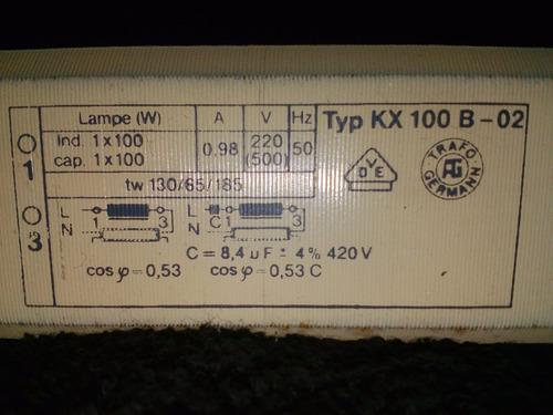 balastros alemanes para camas solares tubos de 100 w