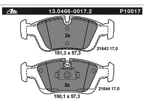 balatas ate delantera bmw 328i 2.8 l 1995-2000 premium one