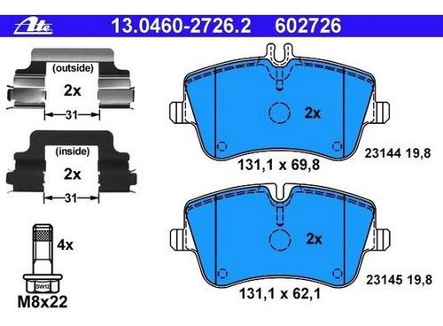 balatas ate delanteras m benz c200 k 00-04 c230 k 04-05 c240