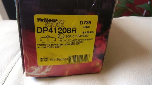 balatas ebc yellow porsche boxster / 911 (traseras)