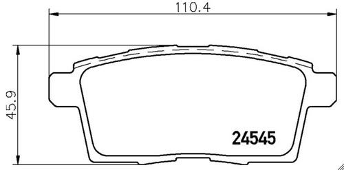 balatas pagid traseras ford edge 3.5 l 2007-2010 s3t6 t1692
