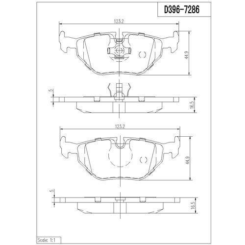 balatas traseras bmw 318ti 1995-1998 ceramic hqs 7286d396k