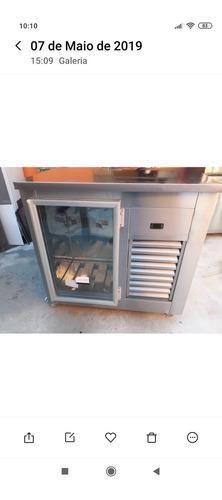 balcao em inox refrigerado 110x60x100  produto novo