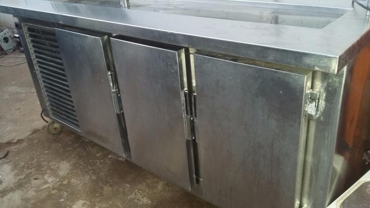 Balcao Inox Refrigerado Com Pista Fria Revisado R 1 950 00 Em