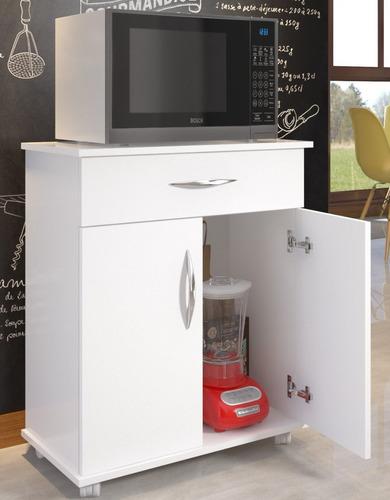 balcão base microondas fruteira utensílios cozinha recepção