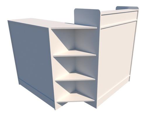 balcão caixa l m5 atendimento recepção mdf (loja vallet)