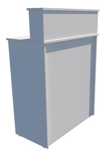 balcão caixa m6 100% mdf (recepção vallet loja gaveta)