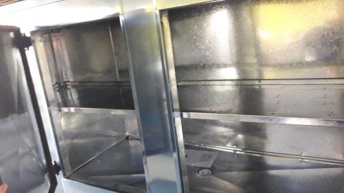 balcão de encosto 1.80mt em aço inox refrigel