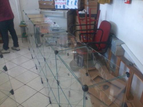 balcão de vidro 3 x 1 x 0,30 mt  tudo para lojas