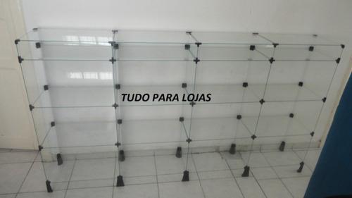 balcão de vidro bijouterias 2mt