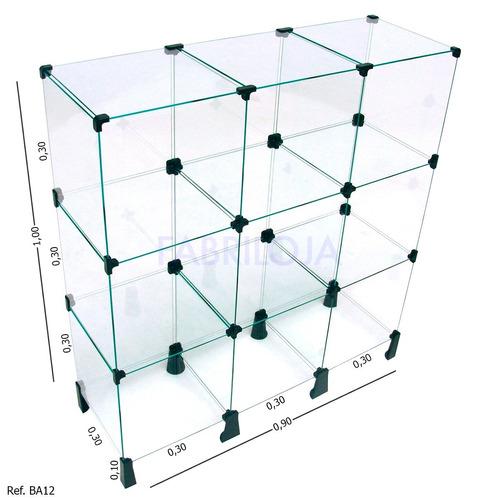 balcão em vidro para loja estante vitrine expositor