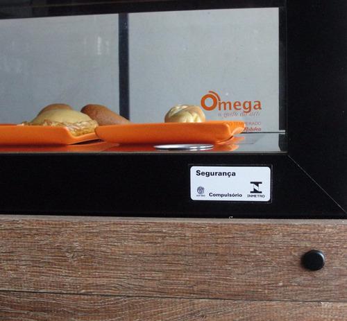 balcão estufa salgados omega- aquecida 1,0 metro luxo c/ led