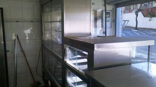 balcão expositor frigorifico em inox com 2 motores