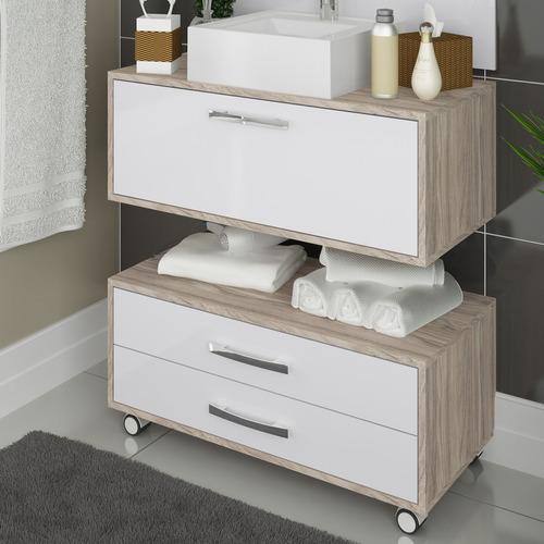 balcão gabinete banheiro completo com cuba e painel