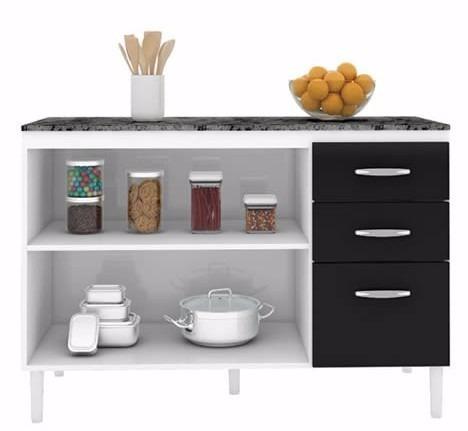 balcão gabinete cozinha marrom claro armario de madeira b81